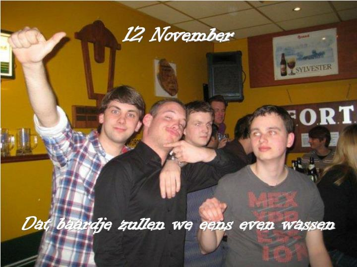 12 November