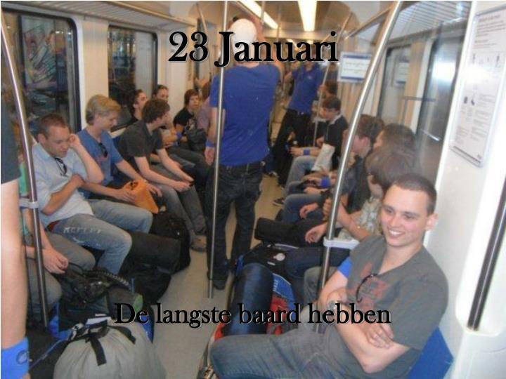 23 Januari