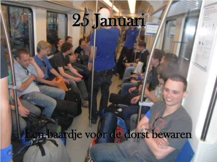 25 Januari