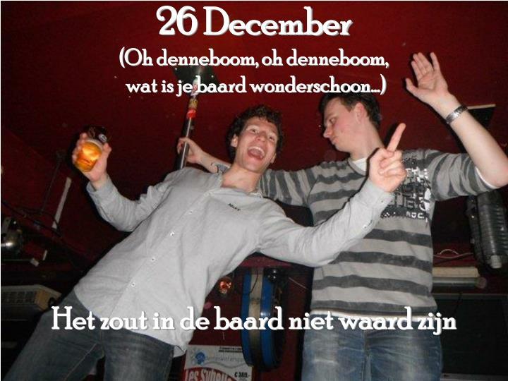 26 December