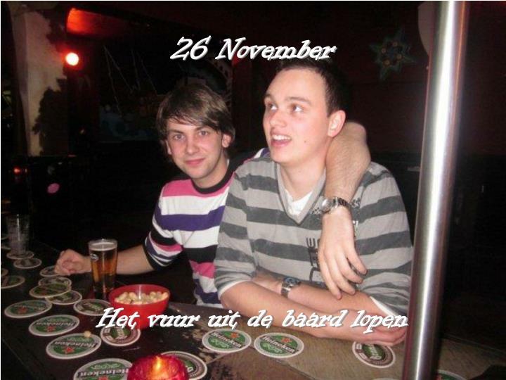 26 November