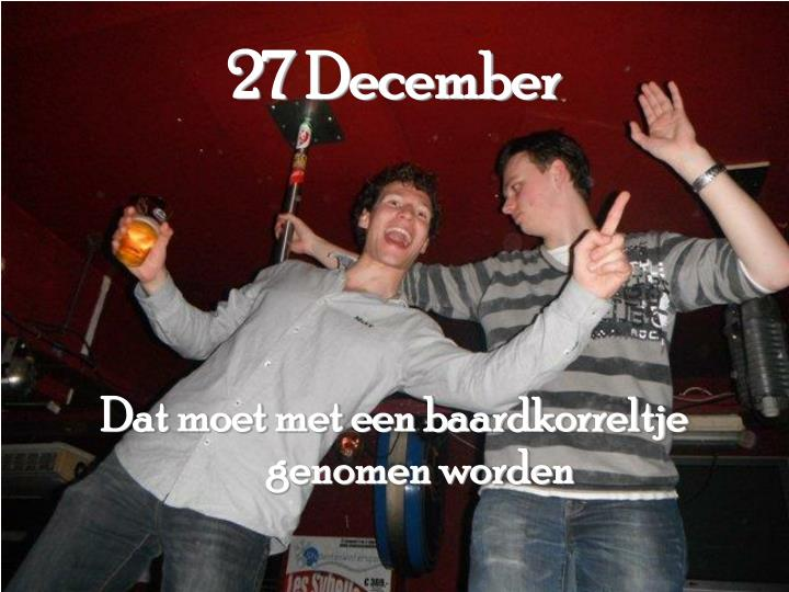 27 December
