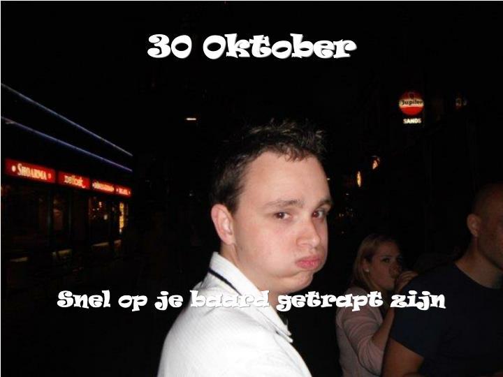30 Oktober