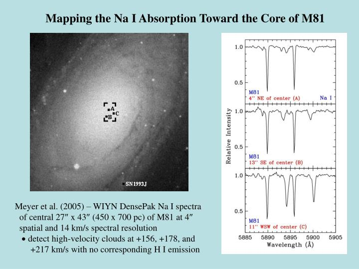 Mapping the Na I Absorption Toward the Core of M81
