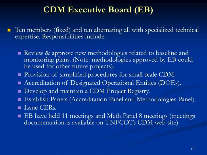 CDM Executive Board (EB)