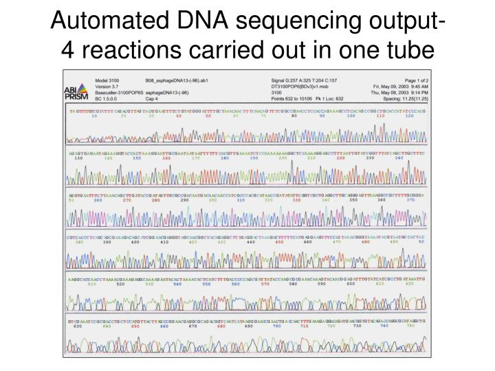 Automated DNA sequencing output-