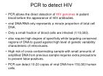 pcr to detect hiv