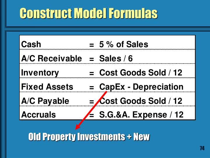 Construct Model Formulas