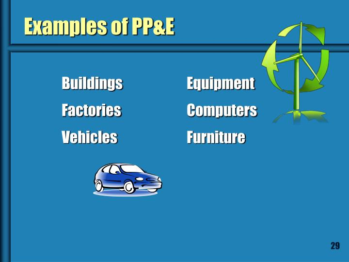 Examples of PP&E