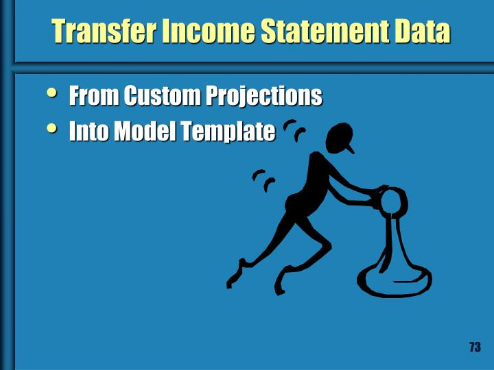 Transfer Income Statement Data