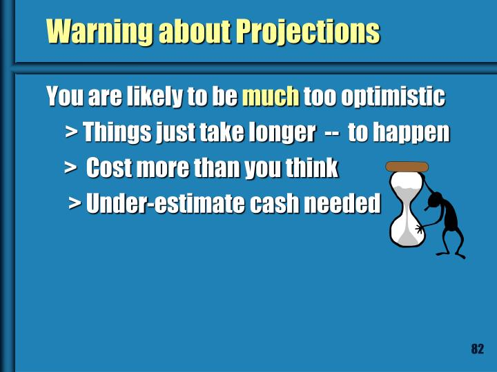 Warning about Projections