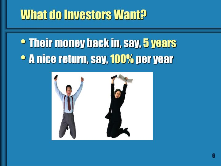 What do Investors Want?