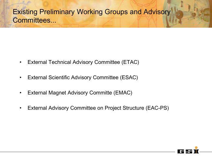 External Technical Advisory Committee (ETAC)