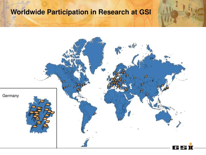Worldwide Participation in Research at GSI