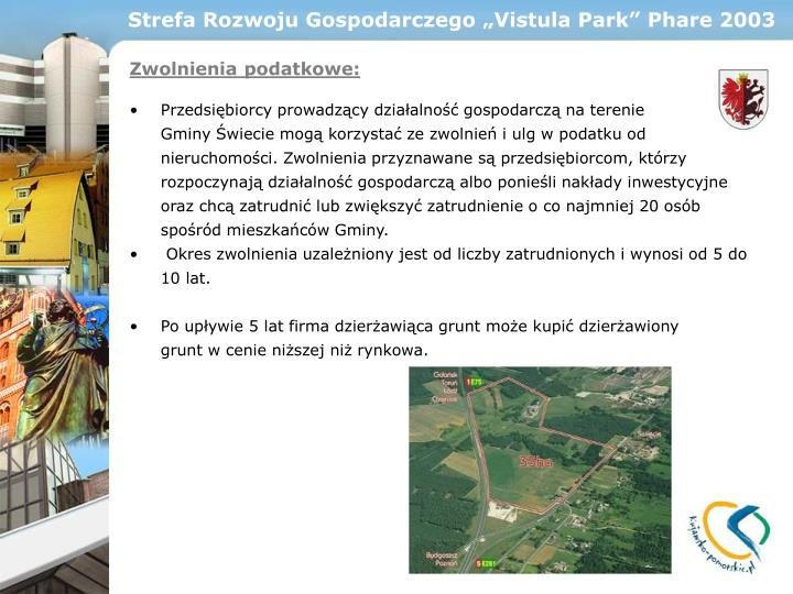 "Strefa Rozwoju Gospodarczego ""Vistula Park"" Phare 2003"