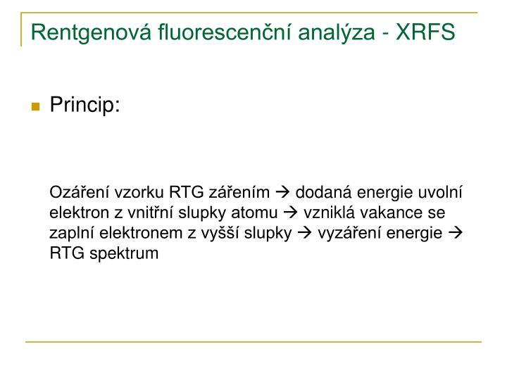 Rentgenová fluorescenční analýza - XRFS