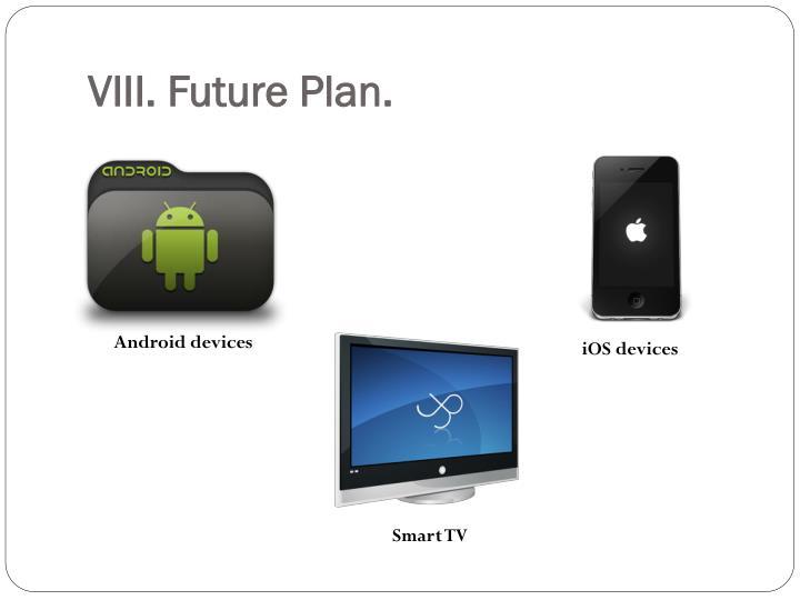 VIII. Future Plan.