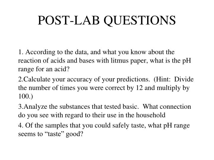 POST-LAB QUESTIONS