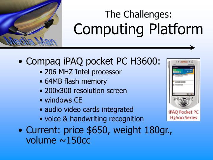 Compaq iPAQ pocket PC H3600: