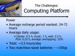 the challenges computing platform2