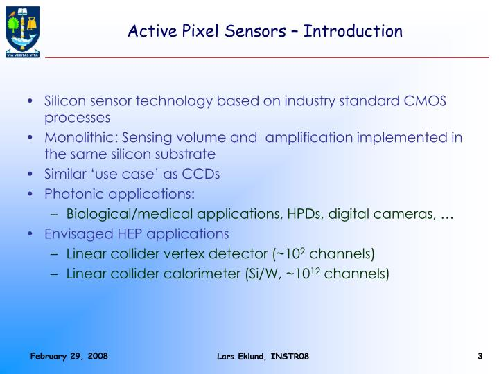 Active pixel sensors introduction