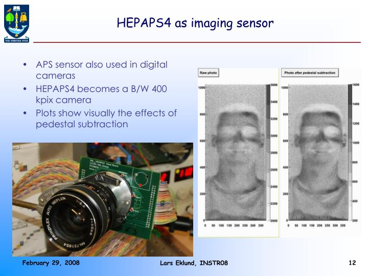 HEPAPS4 as imaging sensor