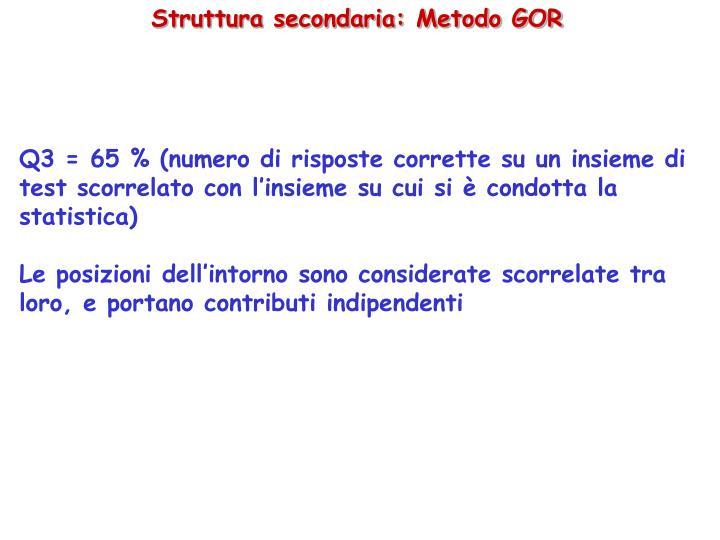 Struttura secondaria: Metodo GOR