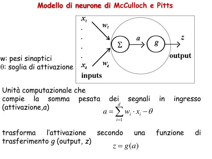 Modello di neurone di