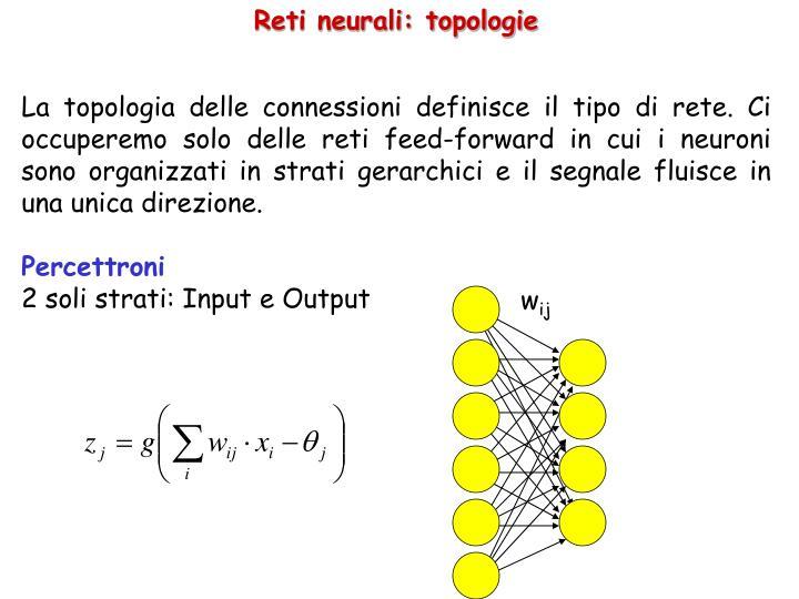 Reti neurali: topologie
