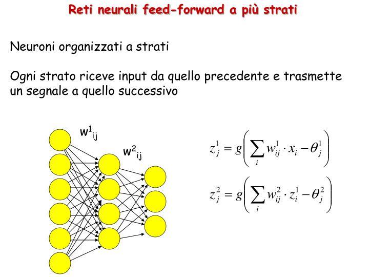 Reti neurali feed-forward a più strati