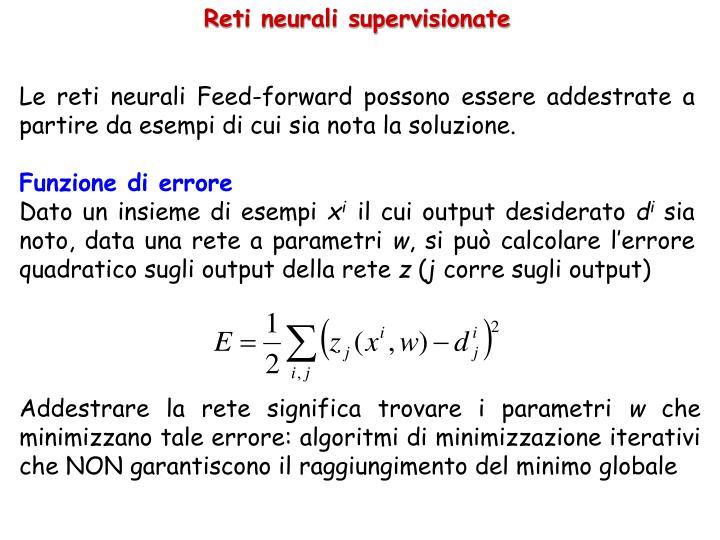 Reti neurali supervisionate
