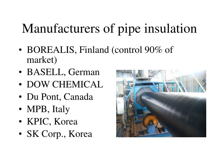 Manufacturers of pipe insulation