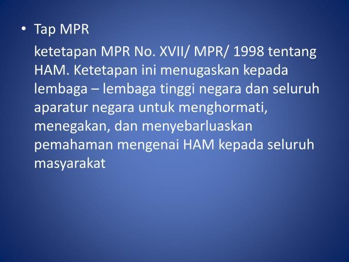Tap MPR
