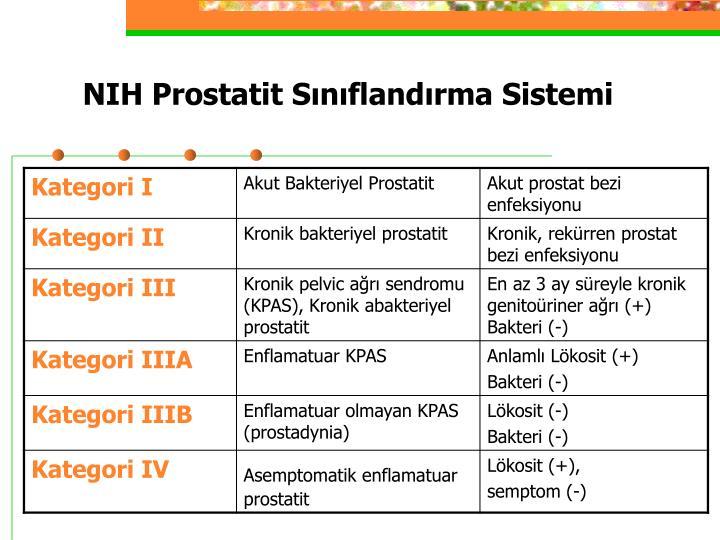 NIH Prostatit Sınıflandırma Sistemi