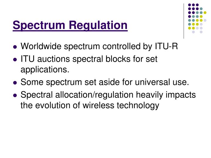 Spectrum Regulation