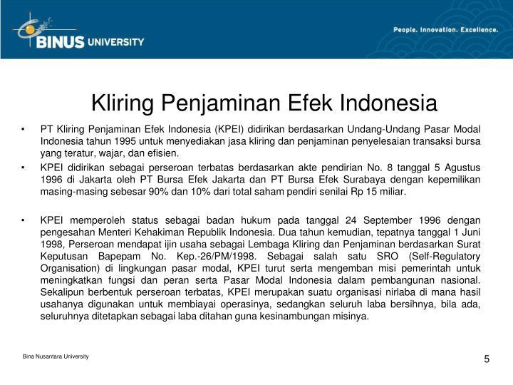 Kliring Penjaminan Efek Indonesia