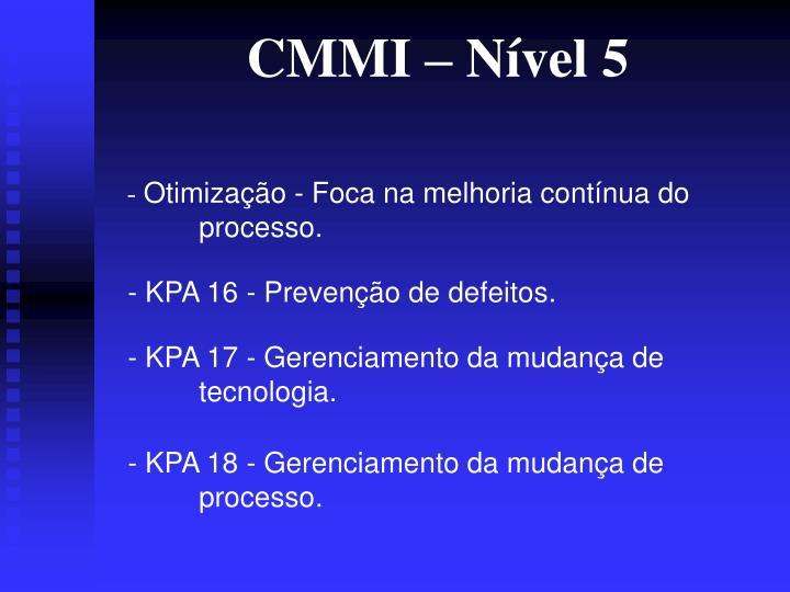 CMMI – Nível 5