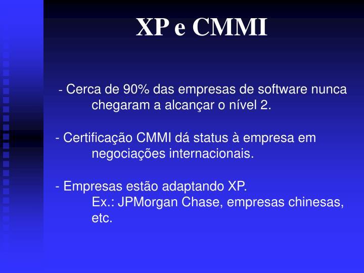 XP e CMMI