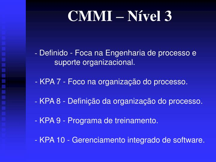 CMMI – Nível 3