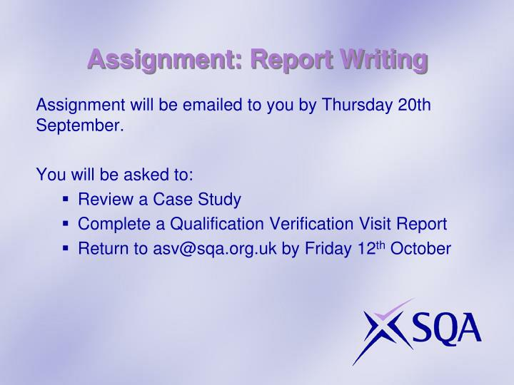 Assignment: Report Writing