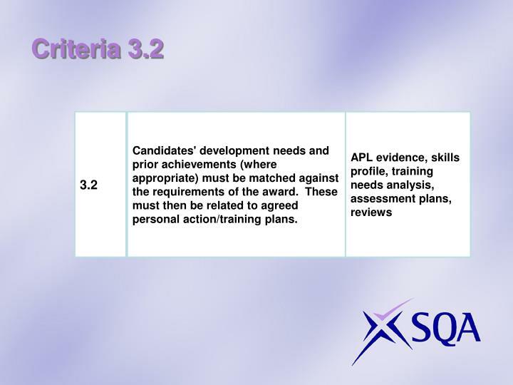 Criteria 3.2