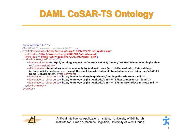 DAML CoSAR-TS Ontology