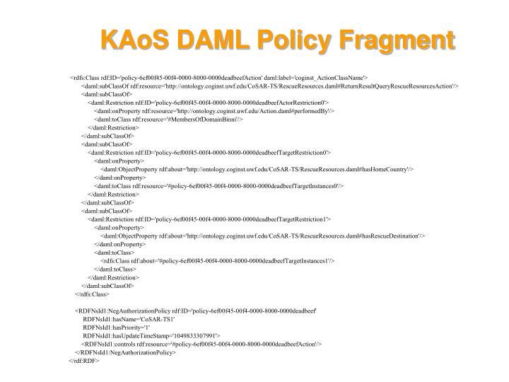 KAoS DAML Policy Fragment