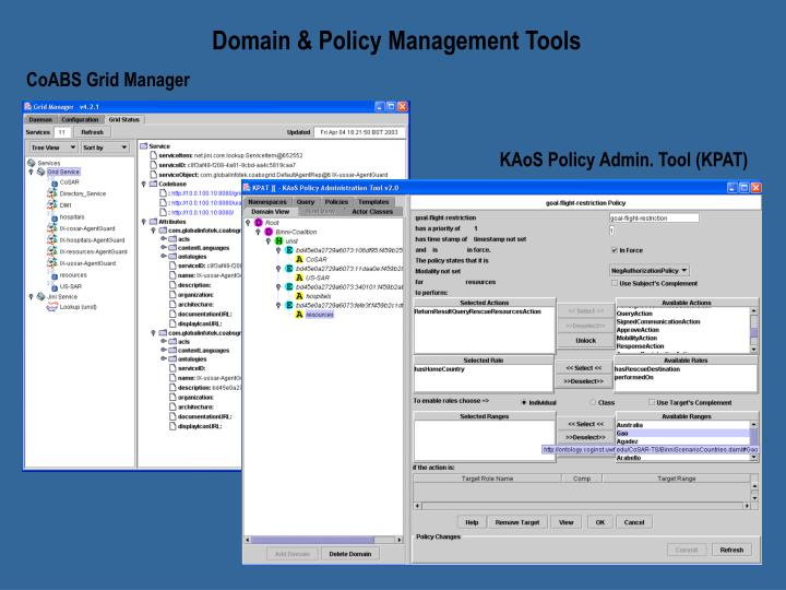 Domain & Policy Management Tools
