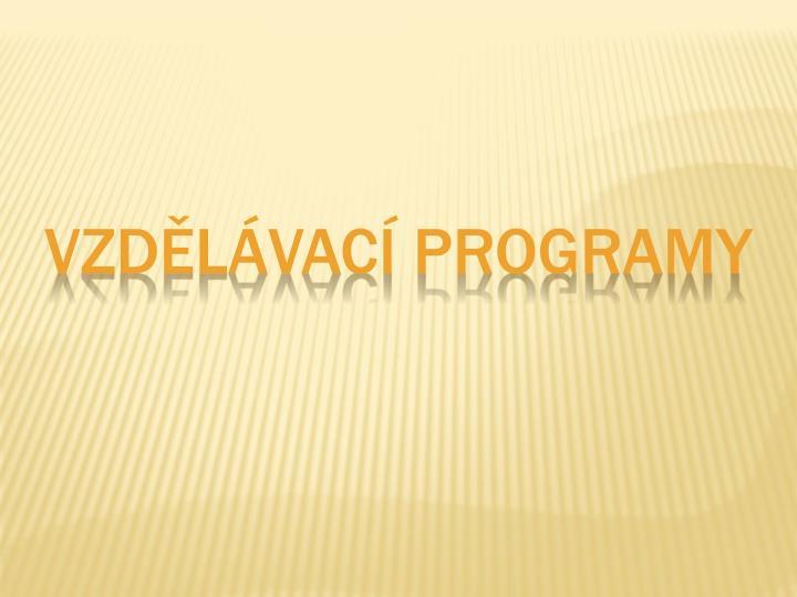 Vzdělávací programy