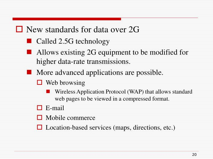 New standards for data over 2G
