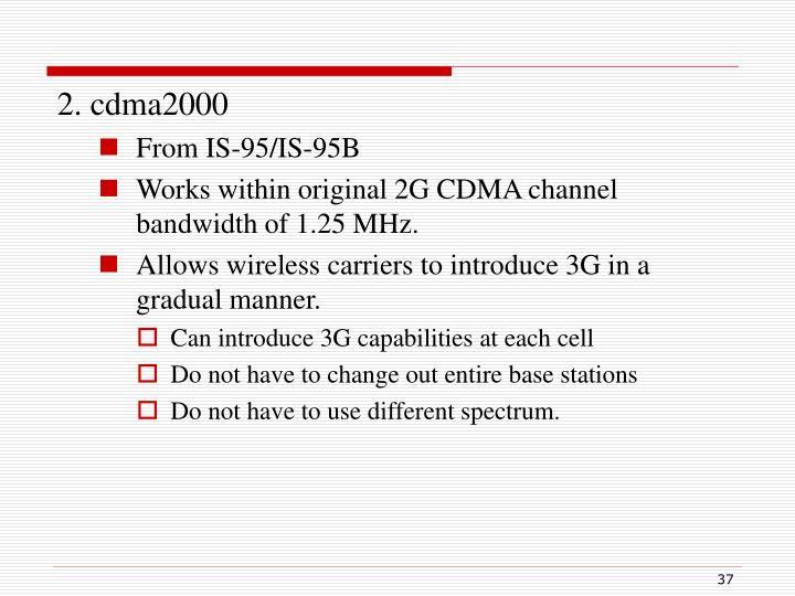 2. cdma2000