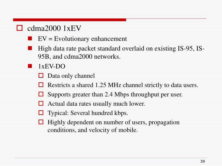 cdma2000 1xEV
