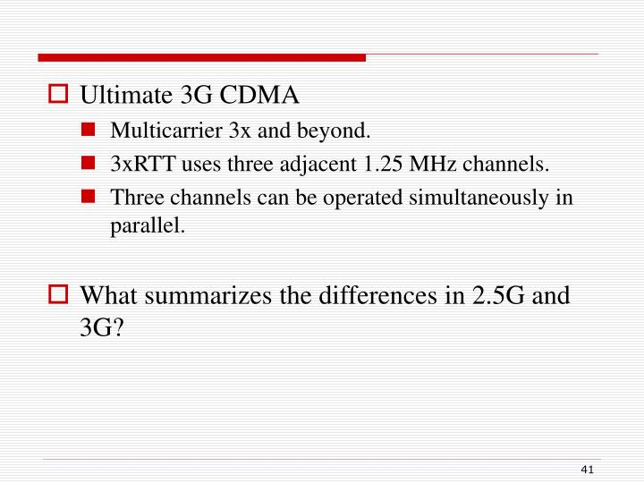Ultimate 3G CDMA