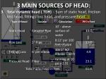 3 main sources of head3